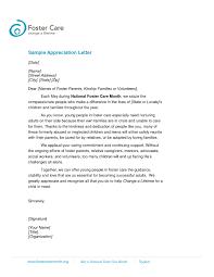 Appreciation Letter Sample Template Resume Builder