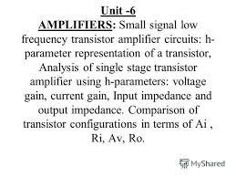 Transistor Configuration Comparison Chart