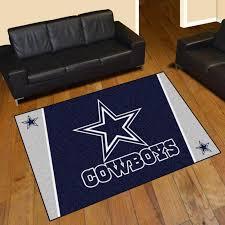 dallas cowboys area rug nylon 5 x 8