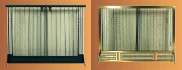 fireplace screen curtain mesh curtains fireplace