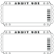 Admit One Ticket Template Free Adorable Raffle Tickets Template Microsoft Word Office Ticket Calendar