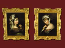 pair of antique oil paintings sarasota
