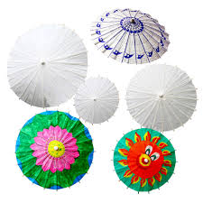 get ations children diy handmade blank paper umbrellas umbrella painting white painted white embryo color painted paper umbrella