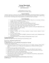 Manufacturing Supervisor Resume Manufacturing Manager Resume