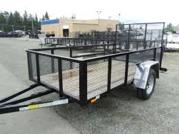 inventory olympic trailer pj and cargo mate flatbed and cargo 2016 cargo mate 5x10 mesh sides utility trailer