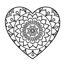 Small Picture Doodle heart mandala coloring page Outline floral design element