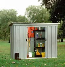 yardmaster pz pent metal 8x4 garden sheds