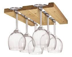 Bar Glass Rack Holder Wine Hanger Storage Under Cabinet Shelves Home Decor  Wood #FoxRun