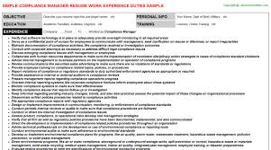 Compliance Resume Awesome Compliance Manager Resume Resumes Templates