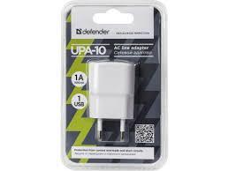 Купить <b>зарядное устройство Defender</b> AC 1USB 5V/1A UPA-10 ...