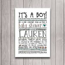 Camping Themed Baby Shower Invitations