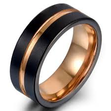 Tungsten Carbide Ring Size Chart Classic 8mm Tungsten Carbide Ring Rose Gold Black Colorfast Anallergic Engagement Rings For Men