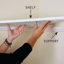 diy handyman install floating corner shelves position the shelves