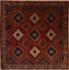 yalameh red square hand knotted 6 8 x 6 9 area rug