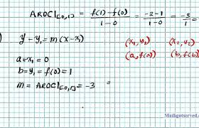 equation of secant line given two
