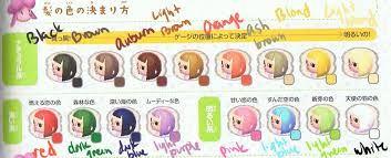 hair color guide crossing new leaf