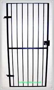 wrought iron metal security gate with