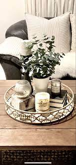 coffee table tray chic farmhouse gold