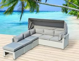 patio couch set outdoor patio furniture  pc rattan resin all weather wicker sectional couch set