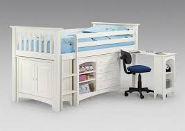New White Cabin Bed With Desk ... beautiful white cabin bed and julian bowen