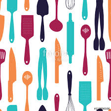 kitchen utensils silhouette vector free. Seamless Background With A Pattern Of Silhouette Cutlery. Vertical Colored Kitchen Utensils Vector Free