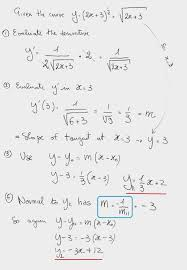 how do you find an equation of the tangent line in slope intercept