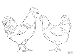 Small Picture Rooster and Hen coloring page Free Printable Coloring Pages