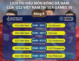 Siêu đội hình giúp việt nam dự world cup: Lịch Thi Ä'ấu Sea Games 30 Mon Bong Ä'a Nam U22 Việt Nam