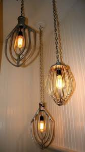 repurposed lighting. Great Article On Repurposing Items And Creating Interesting Light Fixtures. These Use Mixer Blades. Repurposed Lighting
