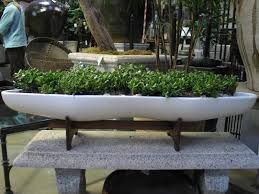Decorative Planter Boxes Planter Boxes White Oval Granite Planters Outdoor Great Ideas For 77