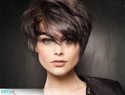 Image Modele Coiffure Courte Brune Coupe De Cheveux Femme