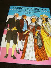 george washington family paper doll book 1989 16 pages uncut tom