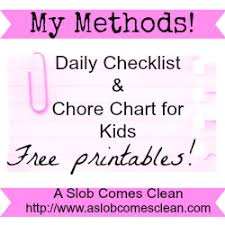 Daily Chores Checklist Daily Checklist Chore Chart For Kids Now With A Printable Version