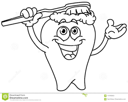 brushing teeth drawing. Exellent Brushing Download Outlined Brushing Tooth Stock Vector Illustration Of Drawing   118760633 On Brushing Teeth Drawing I