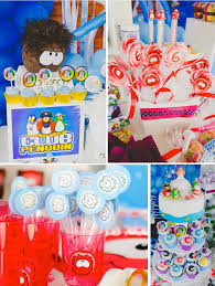 Disney Theme Decorations Karas Party Ideas Disneys Club Penguin Themed Birthday Party