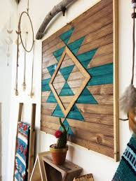 wonderful southwestern wall decor minimalist reclaimed wood art wooden geometric hanging modern boho of