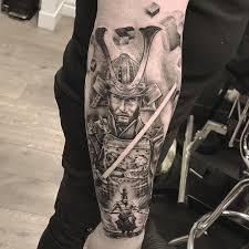 Samurai Tattoo Black And Grey Forearm For Bookings I