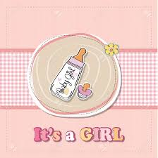 Announcement For Baby Girl New Baby Girl Announcement Card With Milk Bottle And Pacifier