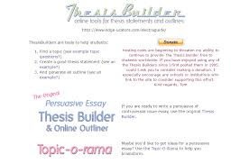online tools and resources for academic essay writing thesis builder