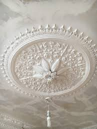 ceiling rose after cleaning and spray painting