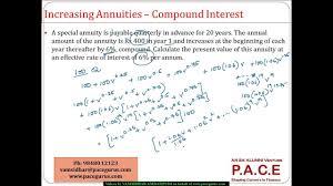 Actuaries Ct 1 Financial Mathematics Annuities Increasing At