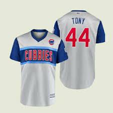 Little League Uniform Size Chart Details About Cubs Anthony Rizzo Tony 44 Gray Jersey 2019 Little League Jersey