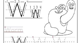 Letter W Worksheets For Preschool Worksheets for all | Download ...