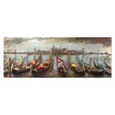 yosemite home decor wooden boats iron multi colored metal work