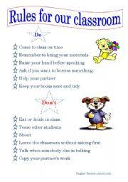 Rules And Consequences Chart Rules Chart Esl Worksheet By Jenna M