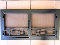 ideas replacement fireplace doors for less glass