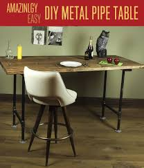 diy pipe table table tutorial rustic furniture how to make a table