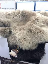 grey fur rug fur rug fresh sheepskin rug grey beige value approx grey faux fur rug