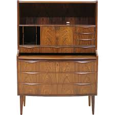 vintage rosewood secretary desk 1960s