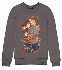 Толстовка с Принтом Рождество Джейн и Тарзан, Женская ...